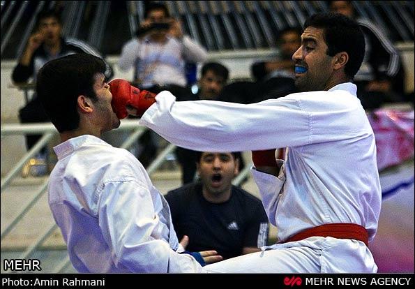 مسابقات کاراته دانشگاه پیام نور